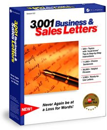 3,001 Business & Sales Letters