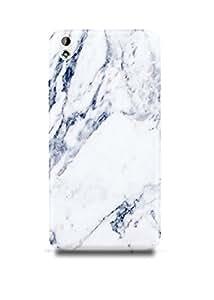 White & Grey Marble HTC 816 Case