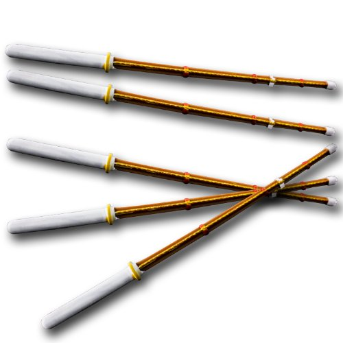 Set of 5 Kendo Sticks for Wrestling Action Figures (Wwe Weapons For Figures compare prices)