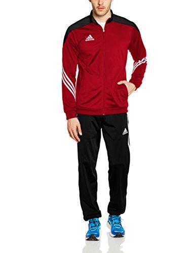 Adidas Sereno 14 Tuta Poliestere da Uomo, Colore Rosso (University Red/Black/White), Taglia M