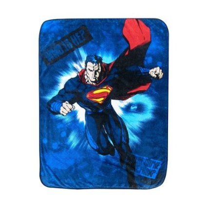"Learn More About Superman Man of Steel Blue Plush Throw Blanket-46"" x 60"""