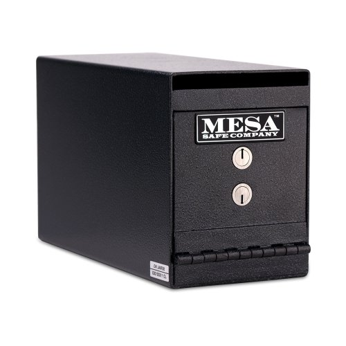 Mesa Safe Company Model MUC2K Undercounter Depository Safe with Dual Key Lock, Dark Gray (Mesa Safe Co compare prices)