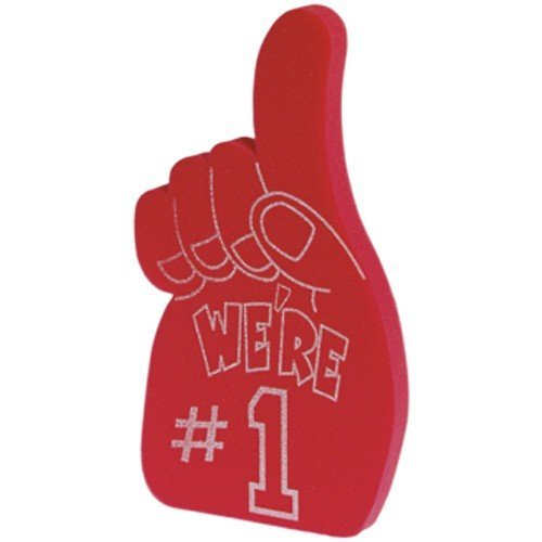 US Toy Foam Number 1 Hands Novelty, Red