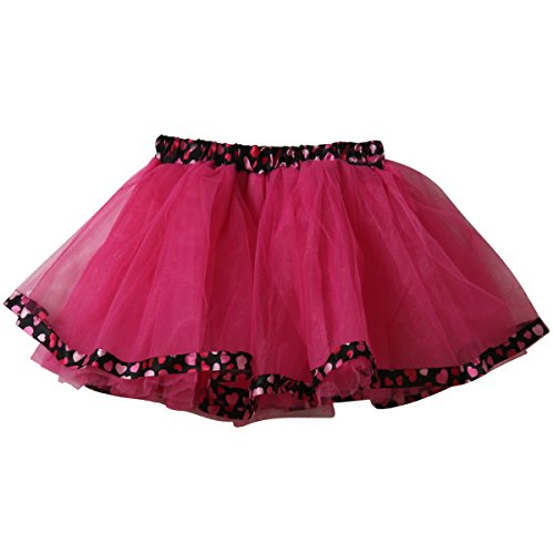 Girls Hot Pink & Black Polka Dot Tutu