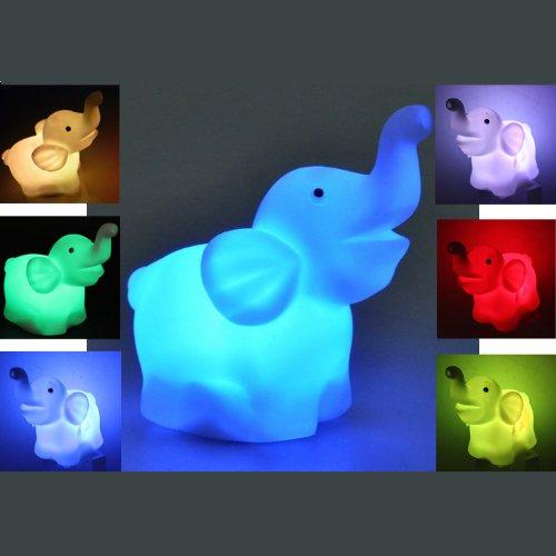 BABY LED Nachtlicht Kinderlampe Elefant Motiv mit Farbwechsel Einschlafhilfe