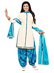 Applecreation White | cotton dress materials for women low price PARTY WEAR new collections Salwar Suit Kameez