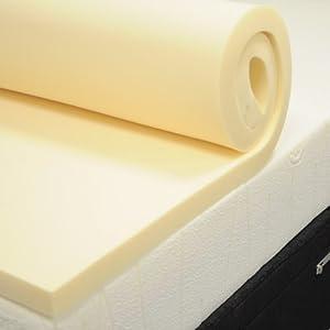 2ft6 3ft 4ft Small 4ft6 5ft And 6ft Memory Foam Toppers Available In 2'' 3'' And 4'' (4'' 3ft Single Memory Foam Topper) by Foam2Go®