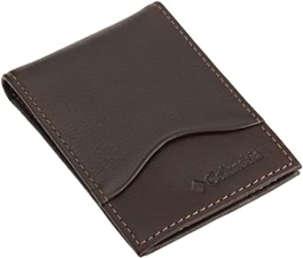 Columbia Mens Front Pocket Wallet, Brown, One Size