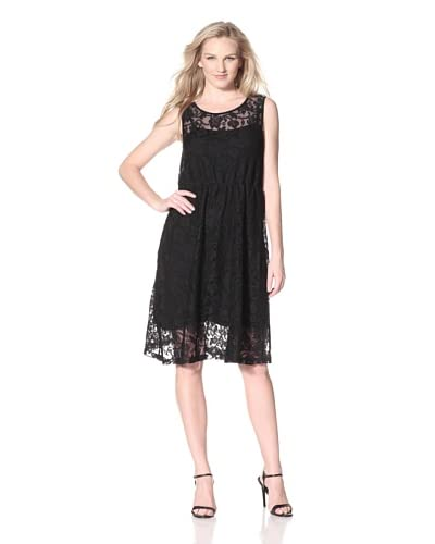 Bacci Sleeveless Lace Dress  [Black]