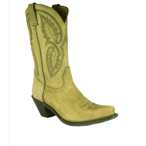 Santa Fe� Brown Distressed Ladies Boot 10 M Br