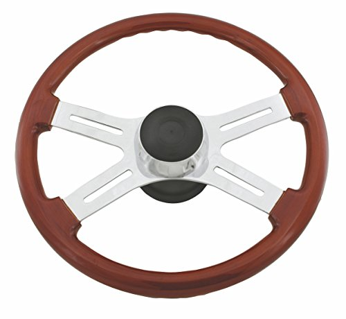 Woody's WP-SWF2008 Rosewood Chrome Truck Steering Wheel (Beautiful African Hardwood) (Freightliner Columbia Steering compare prices)