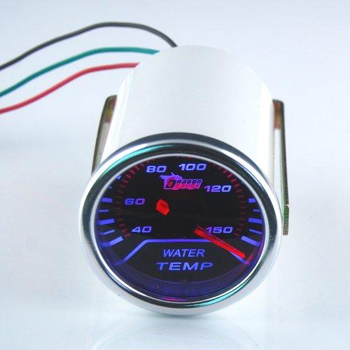 "Thg Bright White Led New 2"" Super Water Temp Temperature Gauge Universal Fit Automobile Car Auto Motor"