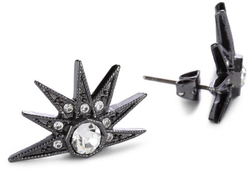 House of Harlow 1960 Gunmetal Half Shaped Stargazer Earrings