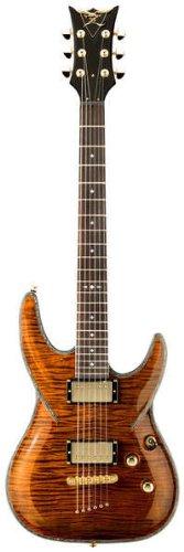 DBZ / Diamond Guitars BARFM-TGE Barchetta Flame Top Electric Guitar, Tiger Eye