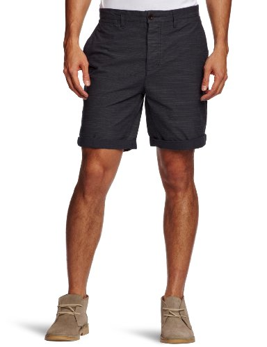 Farah Vintage The Stanton Linen Men's Shorts Navy W30 IN