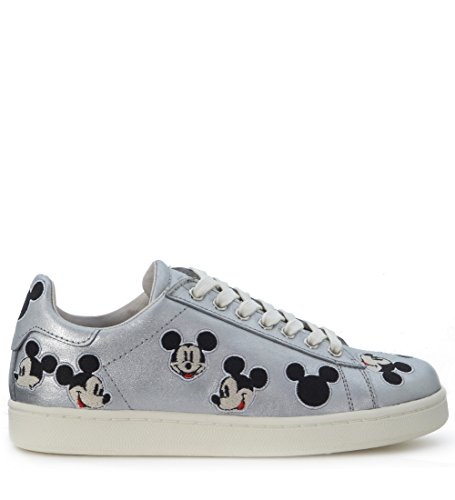 Baskets MoA Mickey Mouse en cuir argent