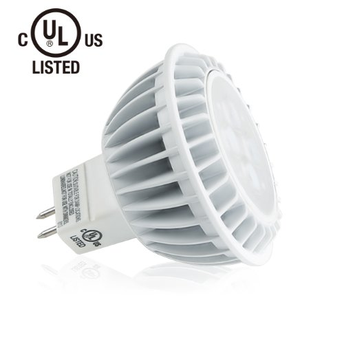 Lighting Ever® 7W Mr16 Led Bulb, 50W Equivalent, 360Lm, Perfect Standard Size, Warm White, Ul Listed, Gu5.3 Base