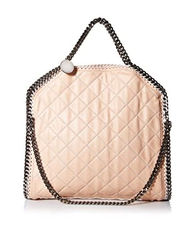 Stella McCartney Women's Small Quilted Tote, Powder/Silver