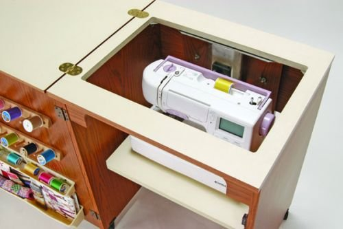Mueble para m quina de coser sewnatra en negro de arrow for Mueble maquina de coser