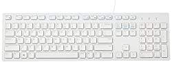 Dell Wired Multimedia USB Keyboard KB216 ,White