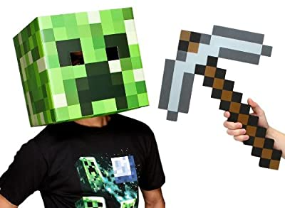 Minecraft 12 Creeper Head Pickaxe Costume Kit by toynk