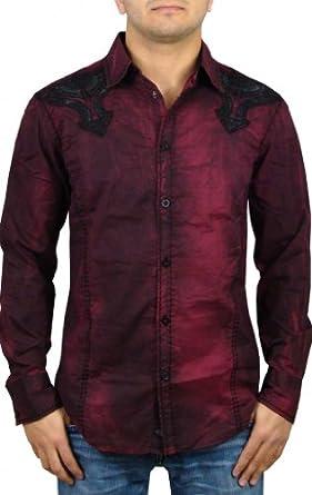 Roar Men's Millennium Button Up Woven Shirt XXXL Burgundy
