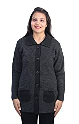 Romano Women's Beautiful Black Warm Winter Long Coat