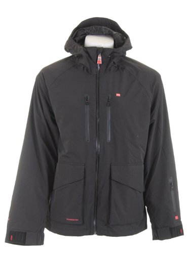 Foursquare Stevo Snowboard Jacket Black Men's Sz Small