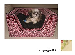 Snoozer Luxury Square Pet Bed, Large, Bebop Apple/Butter