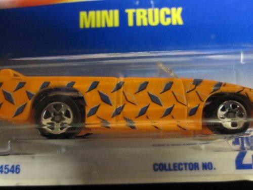 Hot Wheels Mini Truck #231 1996 Orange & Blue with 5 spokes - 1