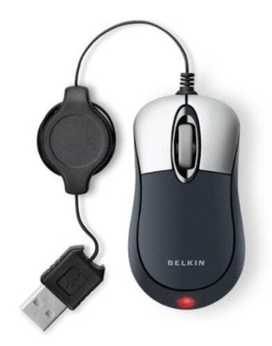 Belkin Mobile Retractable Mouse Grey