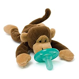 Wubbanub Infant Plush Toy Pacifier - Monkey