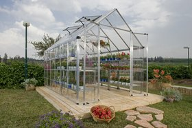 Chalet jardin serre de jardin 9m2 polycarbonate et structure aluminium ama - Serre polycarbonate 9m2 ...