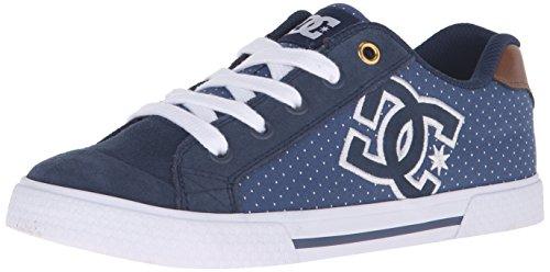 DC Chelsea SE Skate Shoe, Blue/Brown/White, 10.5 M US