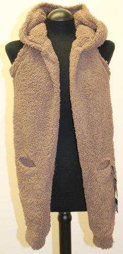 Fleece Hoodie Shrug Style Scraf in Brown