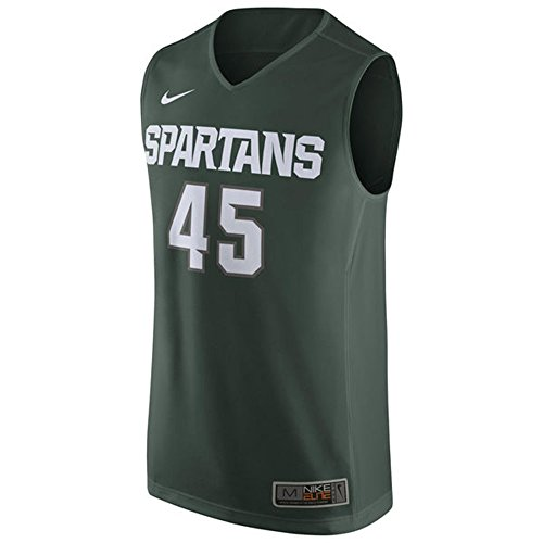 Michigan State Spartans NCAA MENS Green #45 Elite Basketball Jersey