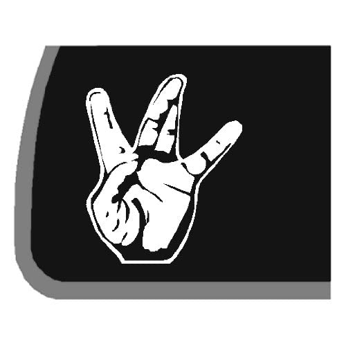 West side hand sign car decal sticker