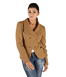 Owncraft Women's Woolen Jacket (Own_568_Beige_X-Small)