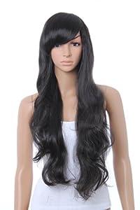 Sexy Long Full Wig (Model: Jf010031) (Black)
