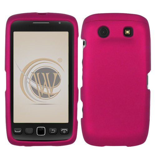 BlackBerry Torch 9850/9860 Rubberized Hard Case Cover - Rose Pink