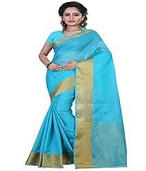 Sanju Swanky Turquoise Color Cotton Silk Saree