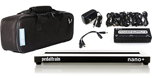 Pedaltrain NANO Plus PEDALBOARD w/Soft Case and JP-02 10 Output Power Supply