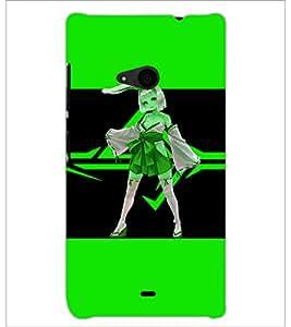PrintDhaba Bold Animated Girl D-3678 Back Case Cover for MICROSOFT LUMIA 535 (Multi-Coloured)