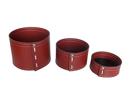 KOME 532: Set svuota tasche in cuoio rigenerato composto da 3 pezzi, colore Bordeaux.