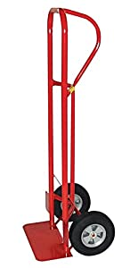 Milwaukee Hand Trucks 44701 Heavy Duty P-Handle Truck with 10-Inch Puncture Proof Tires and 18-Inch Toeplate