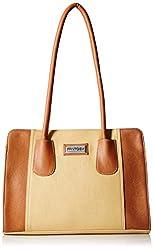 Fantosy Women's Handbag ( Beige And Tan,FNB-329)