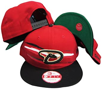 Arizona Diamondbacks Red Black Two Tone Plastic Snapback Adjustable Plastic Snap Back... by New Era