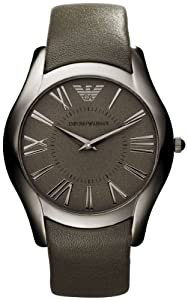 Amazon.com: Emporio Armani Super Slim Leather Mens Watch