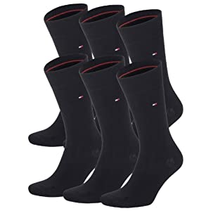 TOMMY HILFIGER Herren Classic Casual Business Socken 6er Pack black 200 - 39/42
