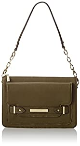 Anne Klein Military Luxe Shoulder Bag,Olive,One Size